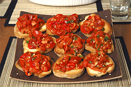 Episode 8 - Roasted Paprika & Capsicum Bruschetta