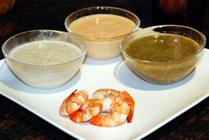 Episode 101 - Prawns with three sauces