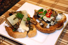 Episode 114 - Caramelised Mushroom & Ricotta Bruschetta