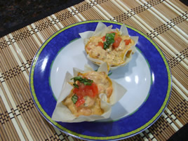 Episode 47 - Pastry Cups with Tomato & Prawns