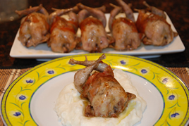 Episode 58 - Quail stuffed with Fruit & Nuts, on a bed of Mashed Potato