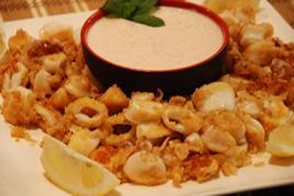 Episode 62 - Paprika dusted Calamari with Greek Taramasalata Dip
