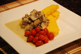 Episode 91 - Creamy Mushrooms with Polenta Wedges and Roasted Cherry Tomatoes